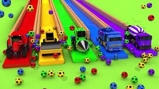 Learn Colors with Street Vehicle and Flying Toy Car in Magic Slide Nursery Rhymes & Kids Songs