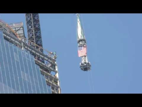 Freedom Tower Spire Lift 05/02/2013