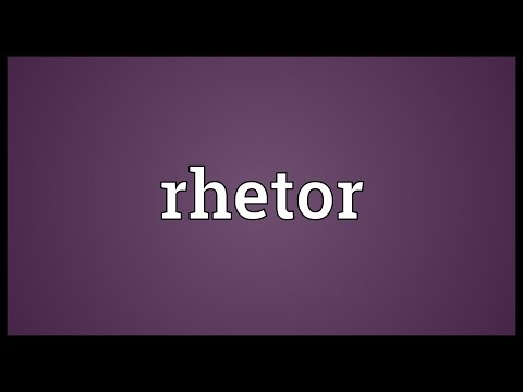 Header of rhetor