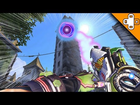 FLYING GRAVITY BLACK HOLE! Overwatch Funny & Epic Moments 389