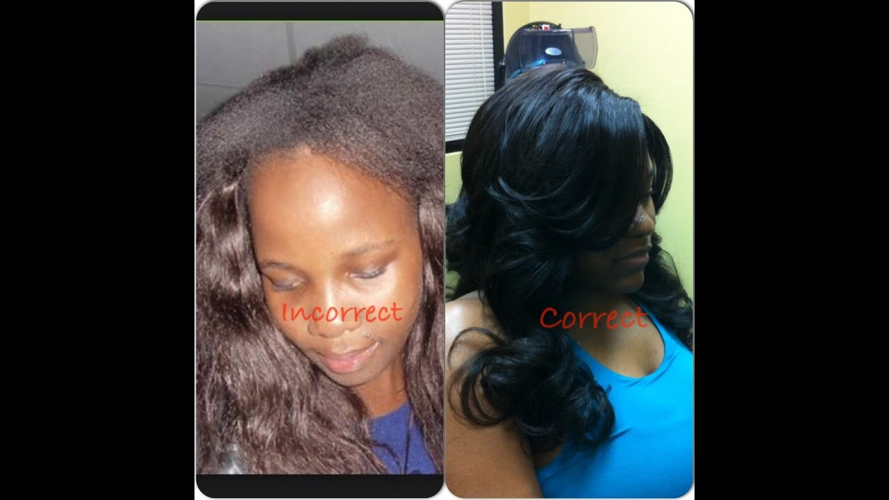 Stop with Bad Weaves & get a Good Weave!! Sew in W/Lace Closure with L ...