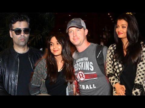 Airport Sporting 13 May 2016 | Aishwarya Rai Bachan, Preity Zinta, Emraan Hashmi & Karan Johar