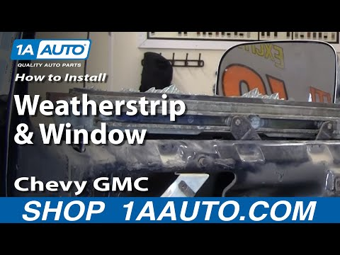 How to Install Replace Weatherstrip & Window 73-87 Chevy GMC Pickup Truck &a
