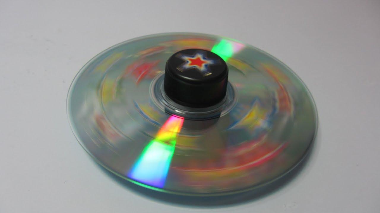 Reciclaje disco giratorio ni os rotating disk youtube - Manualidades con discos ...