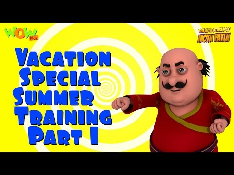 Motu Patlu Vacation Special - Summer Training part 01- Compilation - As seen on Nickelodeon thumbnail