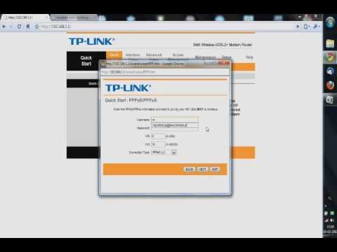 Router TP-LINK TD-W8901G ADSL konfiguracja Neostrady i NET24