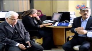 ضياء رشوان يشرح داخل بوابة اخبار اليوم برنامجة الانتخابى بحضور خالد جبر
