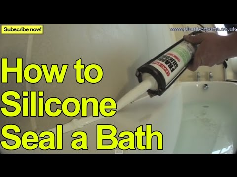 0 HOW TO INSTALL A BATH   SILICONE SEALANT   Plumbing Tips
