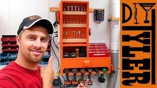 LTL French Cleat  Drill Bit Storage Cabinet