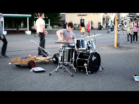 Epic Street Drumming - Best Drummer in the World | Baard Kolstad | HD
