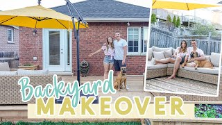 Small Backyard Makeover on a Budget | Before & After!