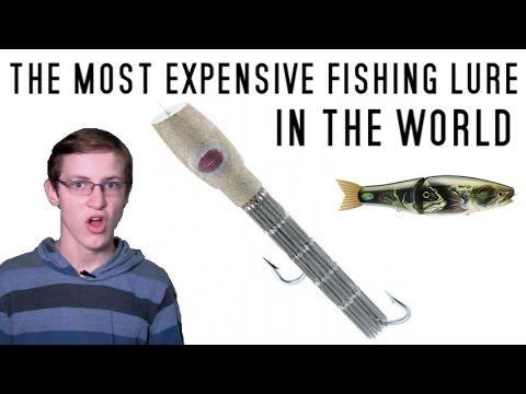 The most expensive fishing lure in the world youtube for Most expensive fishing lure