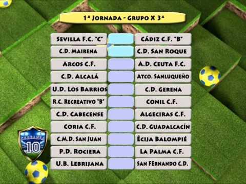 Primera Jornada Tercera División Grupo X 2014-2015