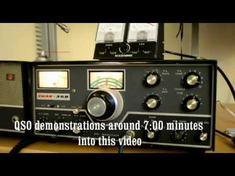 Swan-350 demonstration and QSO