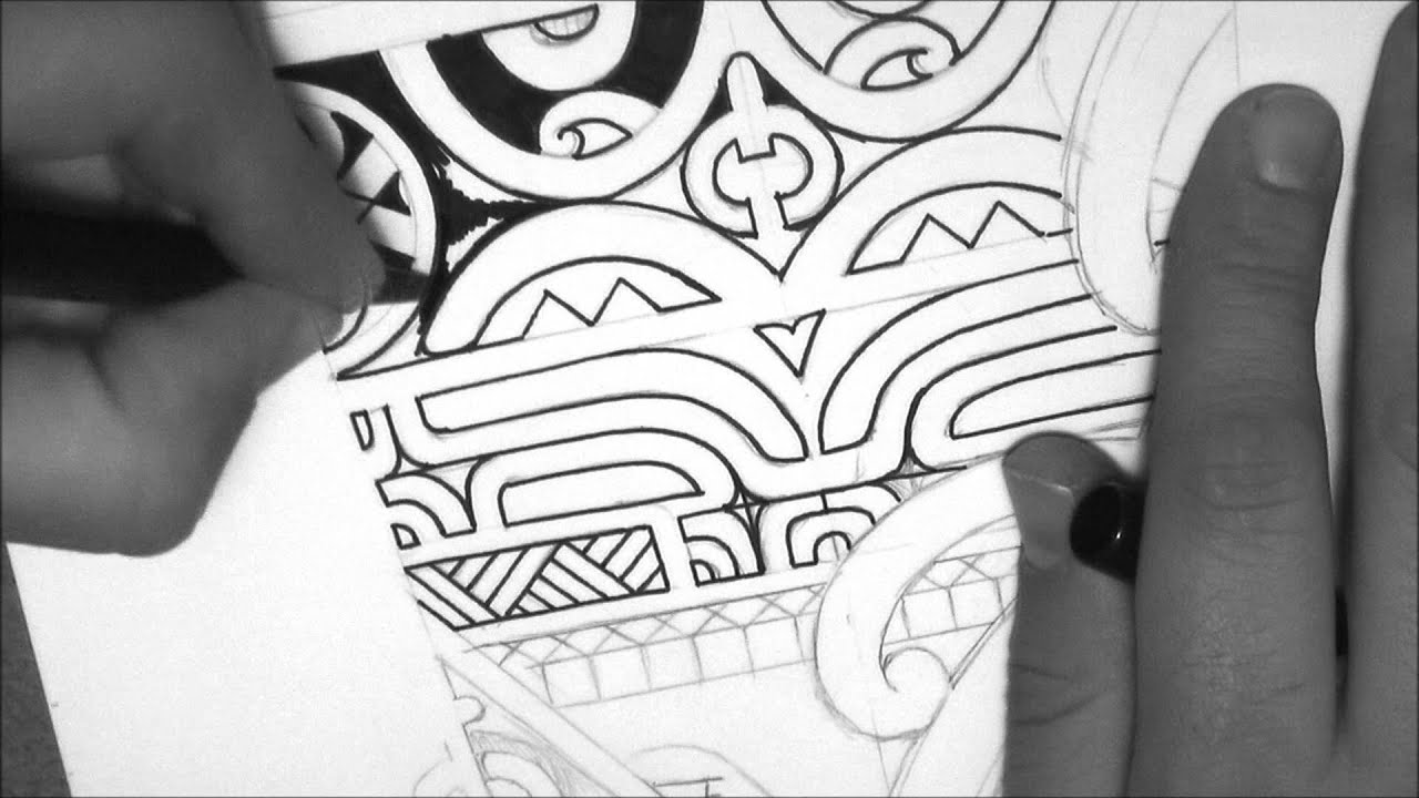 marquesan tattoo design drawing a calf forearm tattoo by tattoo designer storm3d youtube. Black Bedroom Furniture Sets. Home Design Ideas