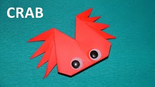 How to make a paper crab - origami tutorial. Educational video for children
