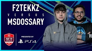 F2Tekkz vs Msdossary | XBOX final | FUT Champions Cup April 2019