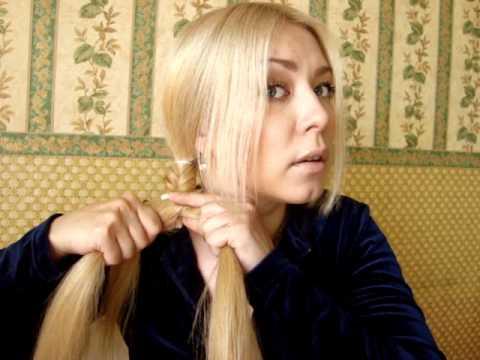 Плетение косы рыбий хвост!! Другая вариация!!