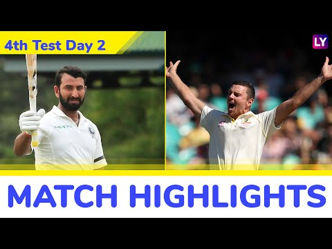 IND vs AUS 4th Test 2018 Day 2 Highlights: Cheteshwar Pujara, Rishabh Pant Help India Post 622/7