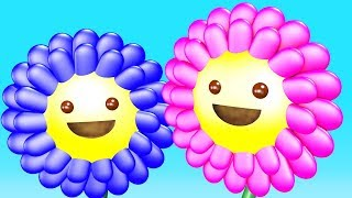 Learning Colors for Children with 3D Bees and Flowers # Funny Songs