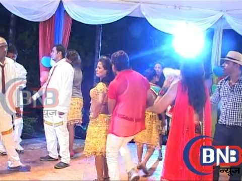 BHOJPURI SUPER STAR KESAARI LAL AT LAADLA  FILM ON LOCATION mp4