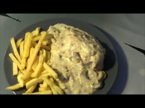 Pollo Con Champiñones y Crema Pollo a la Crema Con