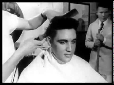 Elvis Getting Haircut Gets His Army Haircut