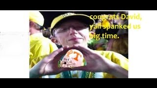 "Oregon 59 Tennessee 14 - "" OUCH my buttocks hurts """