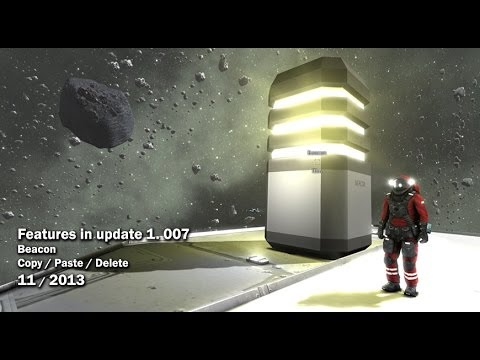 Space Engineers - Beacon block and copy/paste/delete