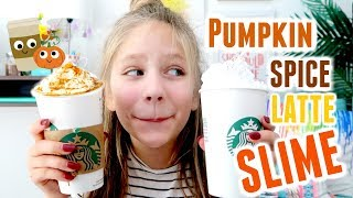 Pumpkin Spice Latte SLIME Shopping at Starbucks and Michaels for Slime Ingredients Fall DIY PSL
