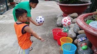 Đồ chơi trẻ em bé pin thảy banh nhận quà ❤ PinPin TV ❤ Baby toys ball  gift