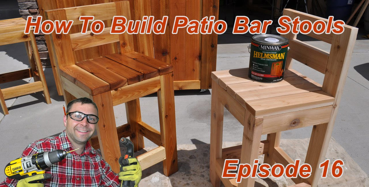 How to Make Simple Bar Stools - YouTube