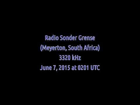 Radio Sonder Grense (Meyerton, South Africa) - 3320 kHz