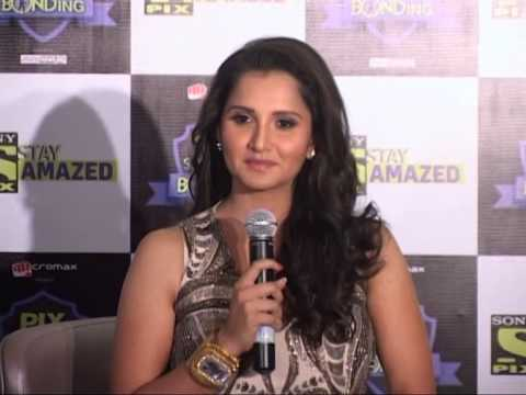 Tennis Player |sania Mirza |  New Saxy Look |  'bond' On Sony Pix video