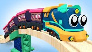 Train City Cartoon - Chu Chu Train - Choo Choo Train Video for KIDS - Toy Train Cartoon