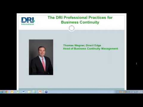 Webinar-DRI Professional Practices for Business Continuity-Specific Answers to Penetrating Questions