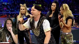 WWE Smackdown 5/16/17 Womens Contract Signing JAMES ELLSWORTH WREKTS