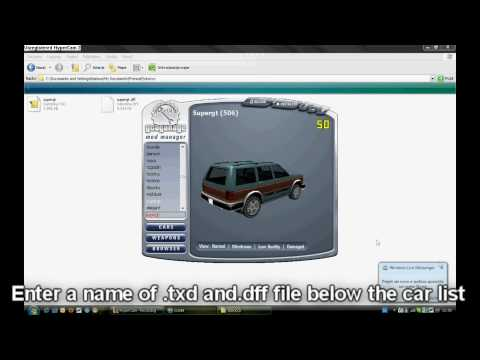 How to inport cars to GTA SA using Gta Garage Mod Manager (GGMM)