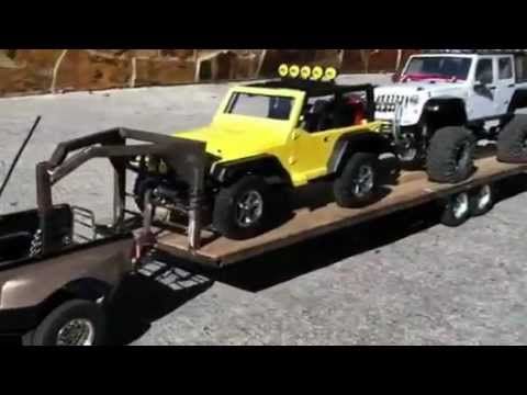 Rc Tamiya Dually Ford F 350 Crew Cab With Tailer Youtube