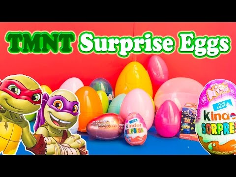 Surprise Eggs Nickelodeon Teenage Mutant Ninja Turtles Tmnt Surprise Egg Video video