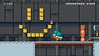 Super Mario Maker - Pit of Panga: P-Break beaten [0,01% clear rate]