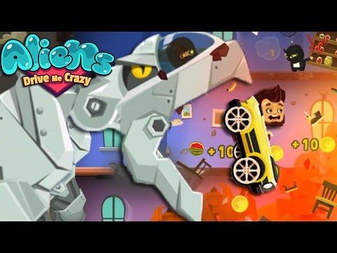 Aliens drive me crazy Gameplay - Crazy dinosaur Robot