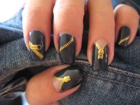 Nail art: Zipper nails