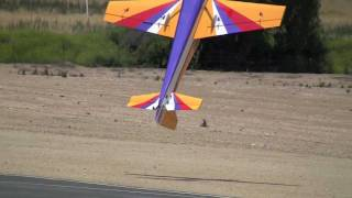 RC Giant Airplane Airshow 3D Crash to Electricity Wire Chino 2011 June