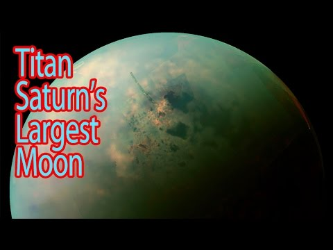 NASA Pictures of Titan (Saturn's Largest Moon)