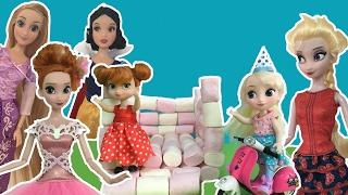 Best Frozen, Disney Princess & Barbie Doll Movie Playlist! Elsa Anna Snow White Cinderella+More
