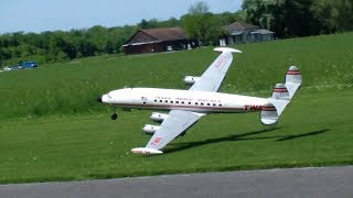 Very rare RC Scale Model Airplane TWA Lockheed L-1049H/01 Super Constellation