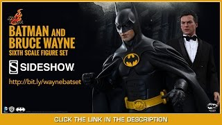 Batman Returns Hot Toys Batman & Bruce Wayne Movie Masterpiece 1/6 Scale Action Figure Set Review