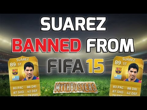 SUAREZ BANNED FROM FIFA 15!!! - Fifa 15 Mythbusters - No Suarez in Fifa 15 Ultimate Team