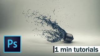 Make water splash lamp in 1min Adobe Photoshop
